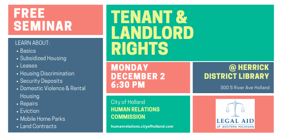 Tenant & Landlord Rights Seminar
