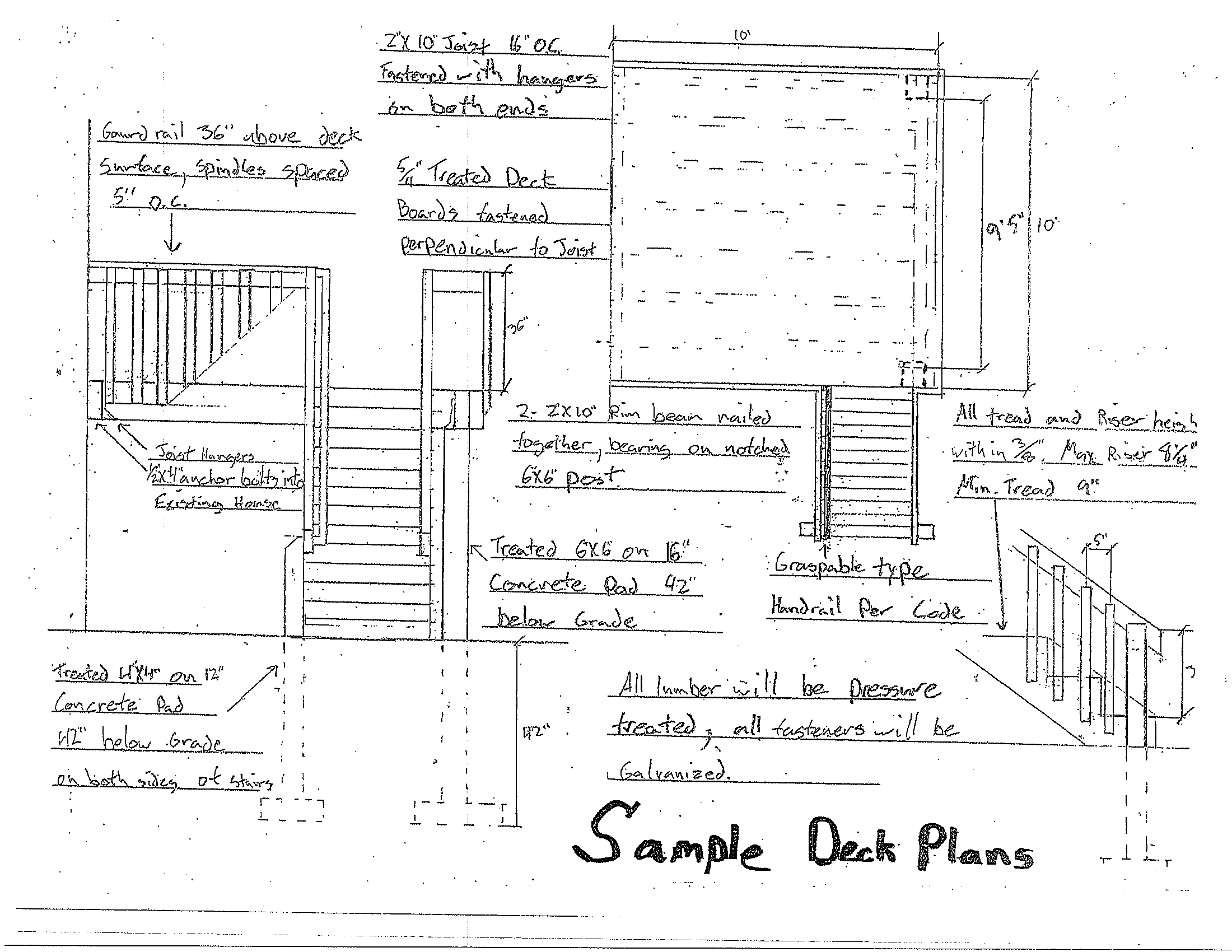 Sample Deck Plan