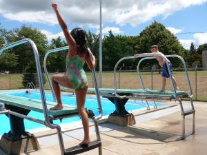 Kids on Diving Board