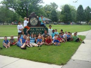 Kids at Rosa Parks Green