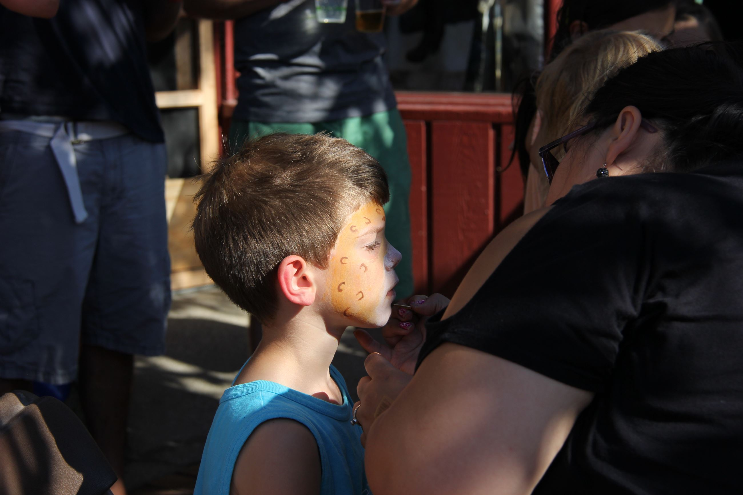 Face painting at Local First Street Party