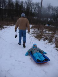 Person Being Pulled in Sled