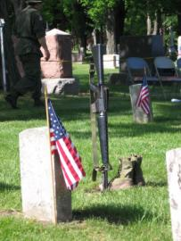 Flags at Graves